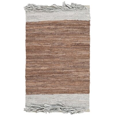 Glostrup Hand Hooked Brown Area Rug Rug Size: Rectangle 3 x 5