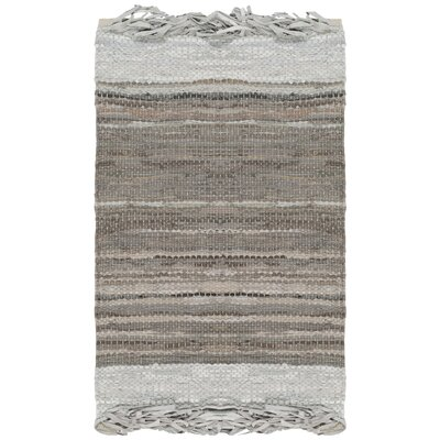 Glostrup Hand Hooked Cotton Light Gray Area Rug Rug Size: Rectangle 3 x 5