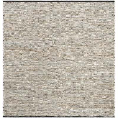 Glostrup Hand Tufted Beige Area Rug Rug Size: Square 6
