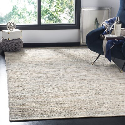 Glostrup Contemporary Hand Tufted Beige Leather Area Rug Rug Size: Rectangle 4 x 6