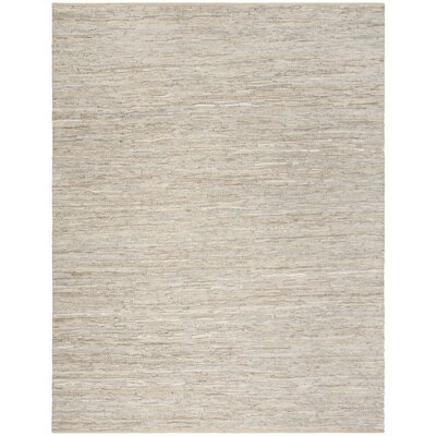 Glostrup Contemporary Hand Tufted Beige Leather Area Rug Rug Size: Rectangle 8 x 10