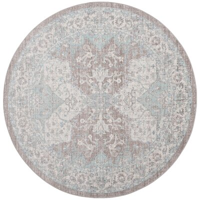 Edgehill Light Gray Area Rug Rug Size: Round 6