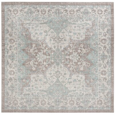 Edgehill Light Gray Area Rug Rug Size: Square 6