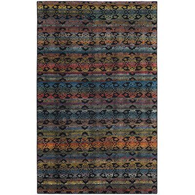 Moyer Hand Tufted Black Area Rug Rug Size: Rectangle 9 x 12