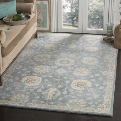 Moss Hand Tufted Wool Gray Area Rug Rug Size: Runner 23 x 8