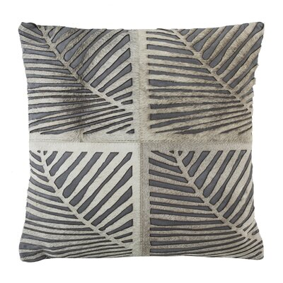Collinsville Palm Natural/Organic Throw Pillow Size: 18