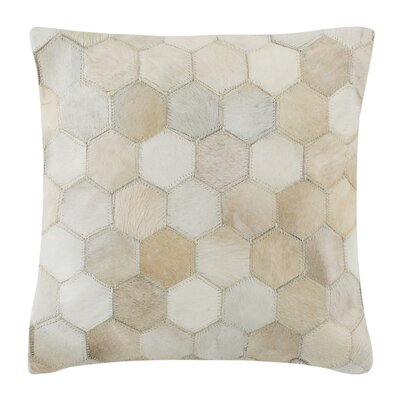 Altieri Tiled Natural/Organic Throw Pillow Size: 18 x 18