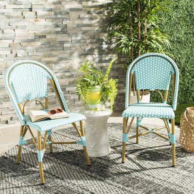 Gentofte Indoor-Outdoor French Bistro Stacking Patio Dining Chair