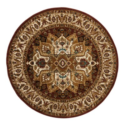 Summit Red Area Rug Rug Size: Round 67
