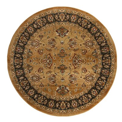 Lowe Beige/Brown Area Rug Rug Size: Round 67