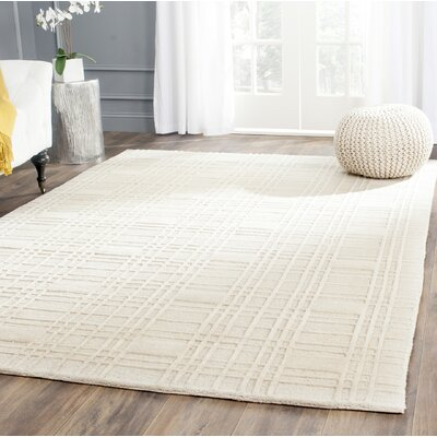 Grid Khakie Area Rug Rug Size: Rectangle 2 x 3
