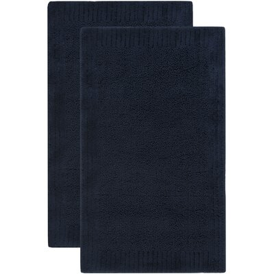 Lavertue Bath Rug Size: 27 W x 45 L, Color: Navy
