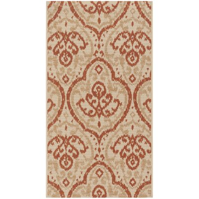 Fairview Beige/Terracotta Area Rug Rug Size: Rectangle 53 x 77