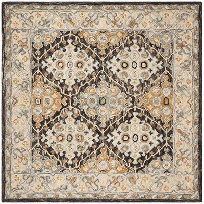 Garvin Hand-Tufted Wool Beige/Brown Area Rug Rug Size: Rectangle 9 x 12