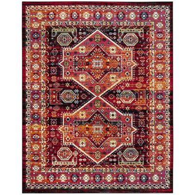 Antoine Black/Orange Area Rug Rug Size: Runner 23 x 8