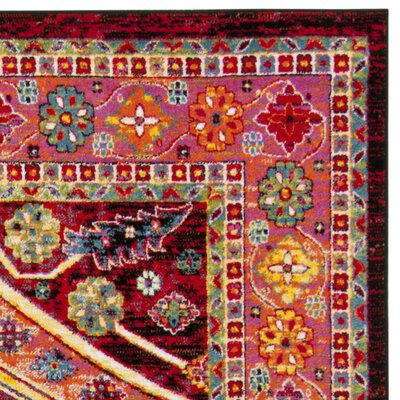 Antoine Black/Light Orange Area Rug Rug Size: Rectangle 8 x 10