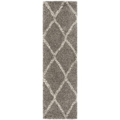 Elizabeth Street Gray/Ivory Area Rug Rug Size: Runner 23 x 8
