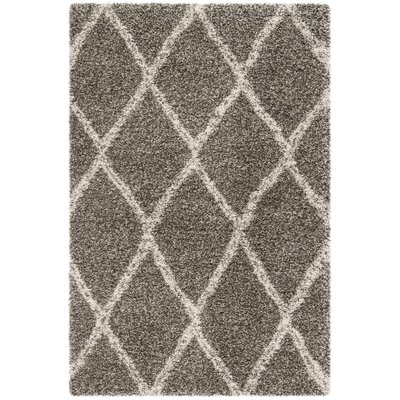 Elizabeth Street Gray/Ivory Area Rug Rug Size: Rectangle 4 x 6