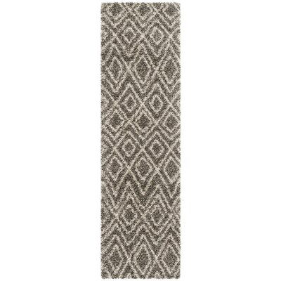 Cammie Gray/Ivory Area Rug Rug Size: Runner 23 x 8