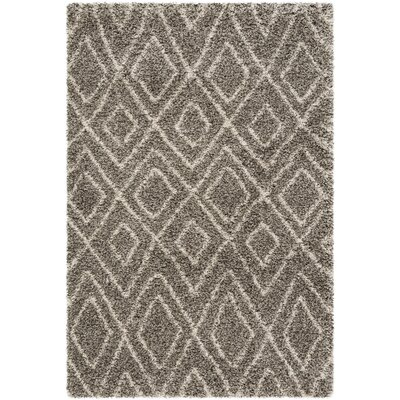 Cammie Gray/Ivory Area Rug Rug Size: Rectangle 4 x 6