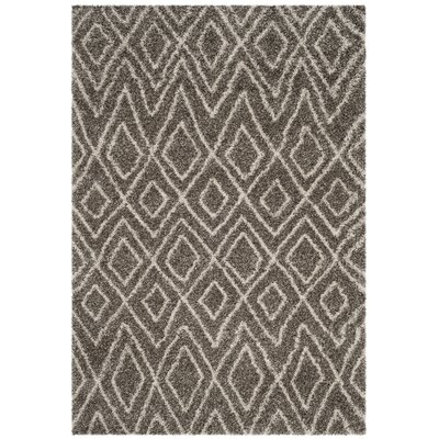 Cammie Gray/Ivory Area Rug Rug Size: Rectangle 51 x 76