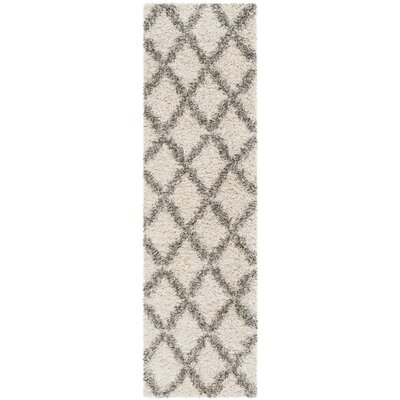 Quito Ivory/Gray Area Rug Rug Size: Runner 23 x 8