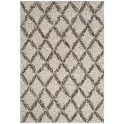 Quito Ivory/Gray Area Rug Rug Size: Rectangle 3 x 5