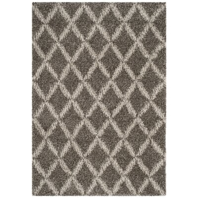 Quito Gray/Ivory Area Rug Rug Size: Rectangle 4 x 6