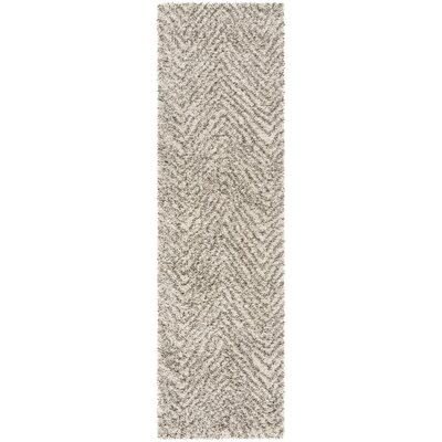 Cammie Ivory/Gray Area Rug Rug Size: Runner 23 x 8