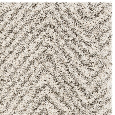 Cammie Ivory/Gray Area Rug Rug Size: Rectangle 4 x 6