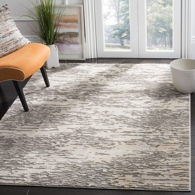 Edvin Gray Area Rug Rug Size: Rectangle 67 x 9