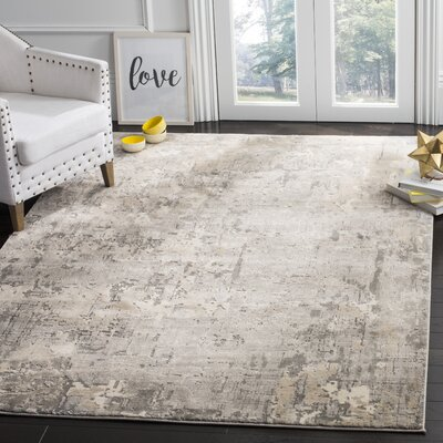 Edvin Gray Area Rug Rug Size: Rectangle 53 x 76