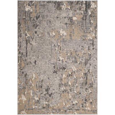 Edvin Gray Area Rug Rug Size: Rectangle 53 x 76