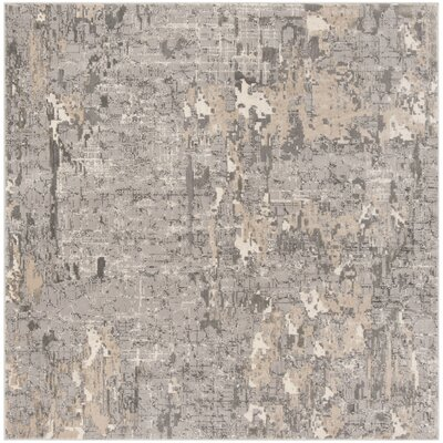 Edvin Gray Area Rug Rug Size: Square 67