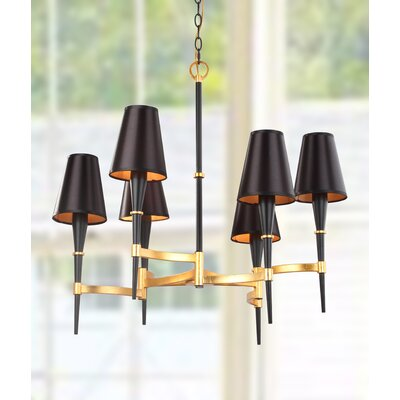 San 6-Light LED Candle-Style Chandelier