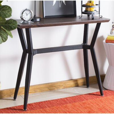 Ruano Rectangular Wood Top Console Table Size: 31.4
