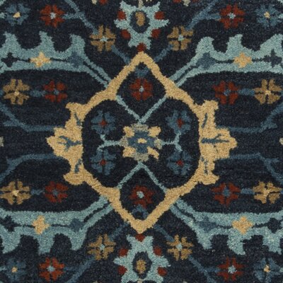 Albrightsville Hand Tufted Wool Navy Area Rug Rug Size: Rectangle 5 x 8