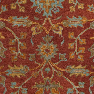 Carlsen Hand Tufted Wool Red Area Rug Rug Size: Rectangle 5 x 8