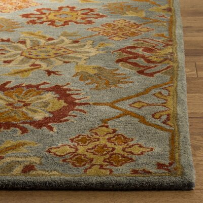 Albrightsville Hand Tufted Wool Charcoal Area Rug Rug Size: Rectangle 5 x 8