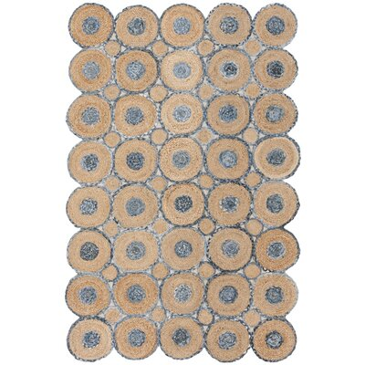 Ashlyn Hand Woven Blue/Natural Area Rug Rug Size: Rectangle 5 x 8