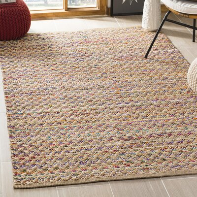 Reinheimer Hand Woven Red/Natural Area Rug Rug Size: Rectangle 4 x 6