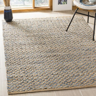 Reinheimer Hand Woven Blue/Natural Area Rug Rug Size: Rectangle 4 x 6