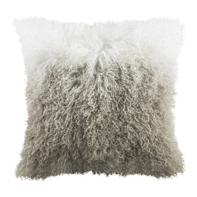 Ritch Sheep Skin Faux Fur Throw Pillow