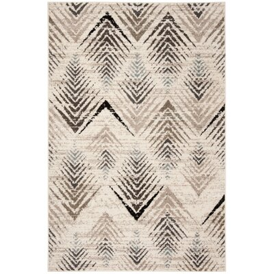 Alioth Cream/Beige Area Rug Rug Size: Rectangle 4 x 6