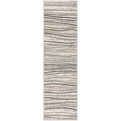 Quiros Cream/Beige Area Rug Rug Size: Runner 23 x 8