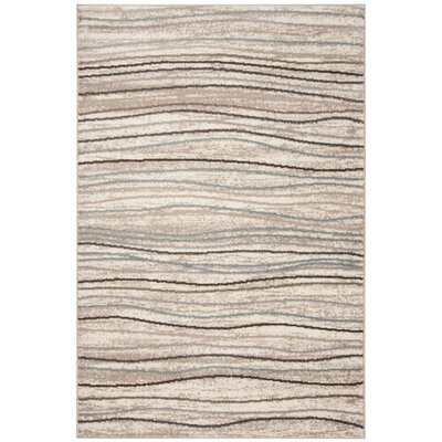 Quiros Cream/Beige Area Rug Rug Size: Rectangle 51 x 76