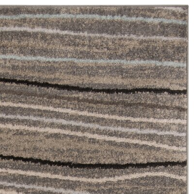 Quiros Silver/Beige Area Rug Rug Size: Rectangle 8 x 10