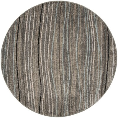 Quiros Silver/Beige Area Rug Rug Size: Round 67