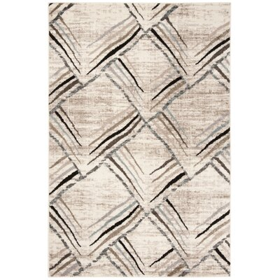 Quiros Cream/Charcoal Area Rug Rug Size: Rectangle 51 x 76