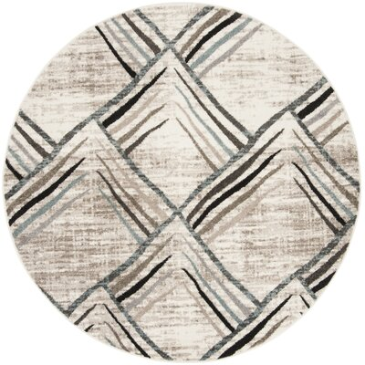 Quiros Cream/Charcoal Area Rug Rug Size: Rectangle 67 x 92